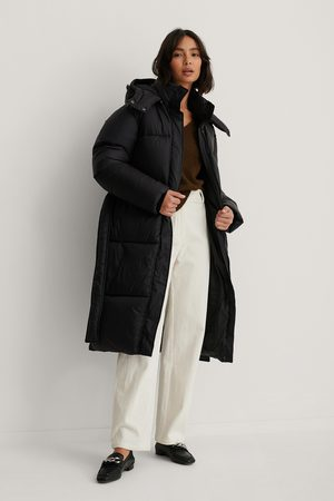 NA-KD Long Belted Puffer Jacket