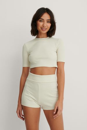 NA-KD Basic Ribbed Highwaist Shorts