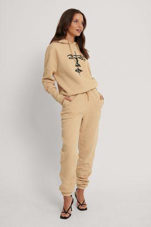 Lisa-Marie Schiffner x NA-KD Organic Drawstring Printed Sweatpants