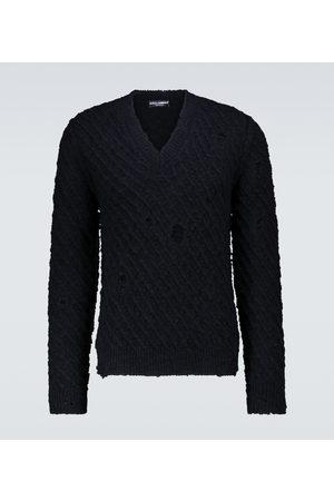 Dolce & Gabbana Mænd Strik - Wool-blend sweater