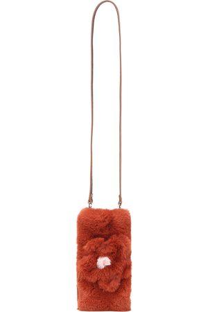 Il gufo Piger Tasker - Floral faux fur bag