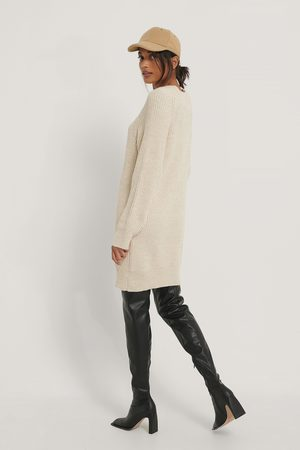 NA-KD Kvinder Strik - Long High Neck Knitted Sweater