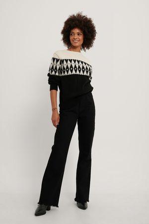NA-KD Kvinder Strik - Pattern Knit Sweater