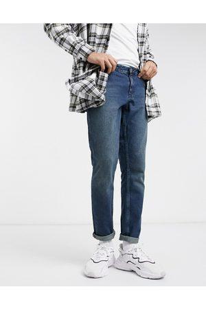 ASOS Slim jeans i mørk vask med grønt skær