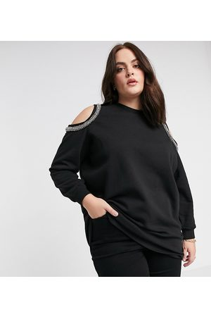 River Island Sweatshirt med cold shoulder
