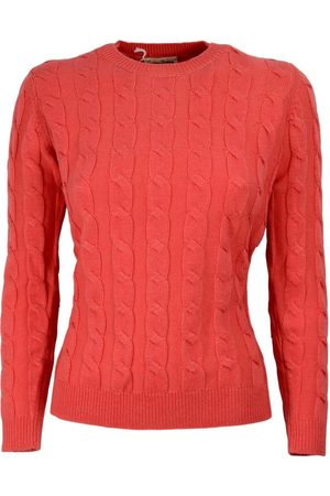 CASHMERE COMPANY WOMAN BRAIDED SWEATER
