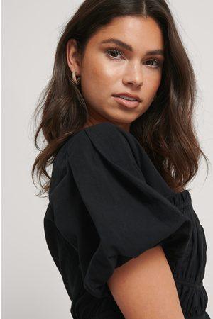 NA-KD Kvinder Kortærmede - Short Sleeve Gathered Blouse