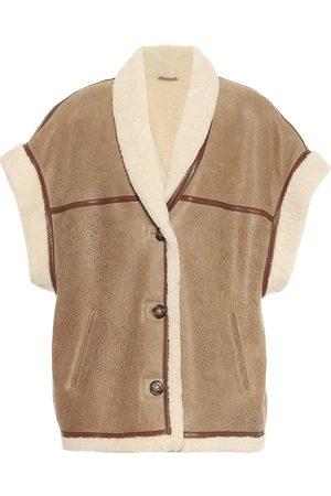 Isabel Marant Kvinder Veste - Adelia leather and shearling vest
