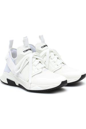 Tom Ford Kvinder Sneakers - Leather-trimmed sneakers