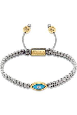 Nialaya Jewelry Mænd Armbånd - Vævet guldbelagt armbånd med øje