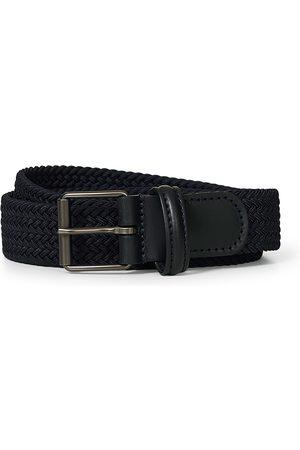 Anderson's Elastic Woven 3 cm Belt Navy