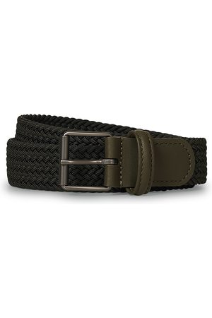 Anderson's Elastic Woven 3 cm Belt Military Green