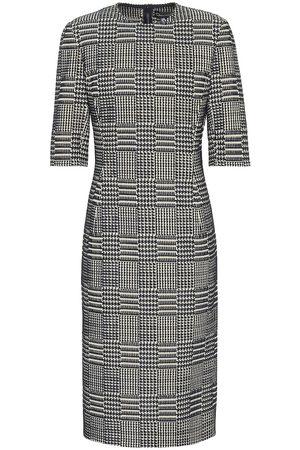Oscar de la Renta Tweed jacquard sheath dress