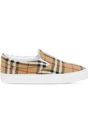 Burberry Slip-on-sneakers med vintage-tern