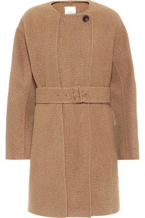 Agnona Kvinder Vinterfrakker - Belted camel coat