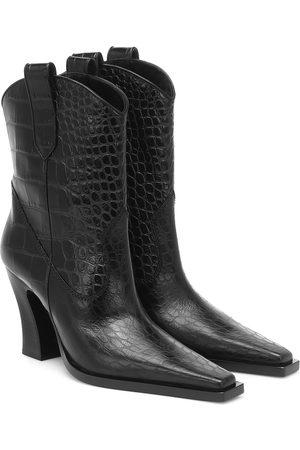 Tom Ford Kvinder Støvler - Croc-effect leather Western boots