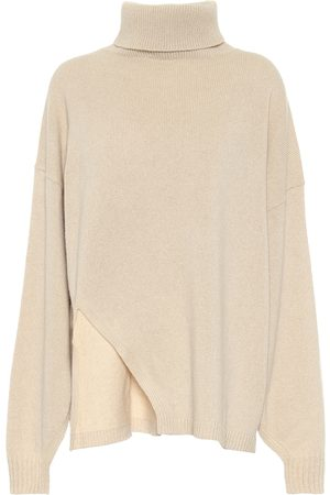 tibi Kvinder Strik - Cashmere and wool cape sweater