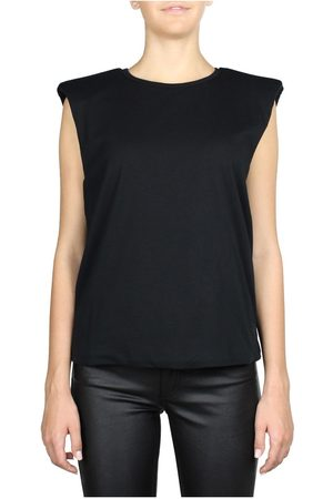 FEDERICA TOSI PADDED SHOULDER SLEEVELESS TOP
