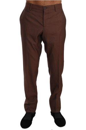 Dolce & Gabbana Wool Silk Formal Trousers Pants