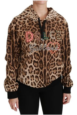 Dolce & Gabbana Hooded Studded Ayers Leopard Sweater