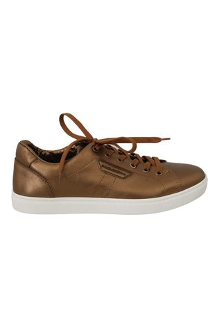 Dolce & Gabbana Leather Mens Casual Sneakers