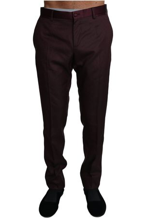 Dolce & Gabbana Wool Pattern Stripe Trousers Pants