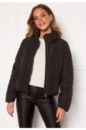 JACQUELINE DE YONG Kvinder Outdoorjakker - NewErica Padded Jacket Black Silver zipper XL