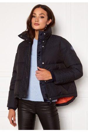 GANT Kvinder Vinterjakker - Jacquard Word Down Jacket 433 Evening Blue M