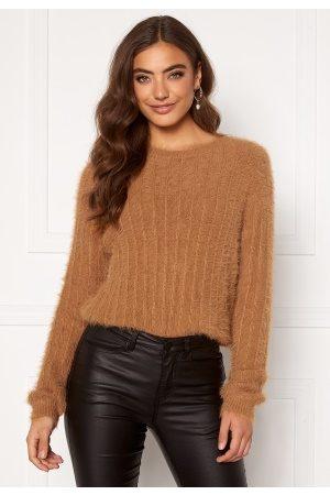 Vero Moda Kvinder Strik - Lapoilu L/S O-Neck Blouse Tobacco Brown XL