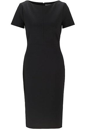 HUGO BOSS Stretch-jersey dress with full-length rear zip