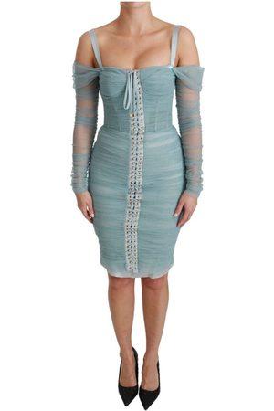 Dolce & Gabbana Bodycon Long Sleeve Stretch Dress