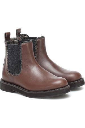 Brunello Cucinelli Piger Støvler - Leather Chelsea boots