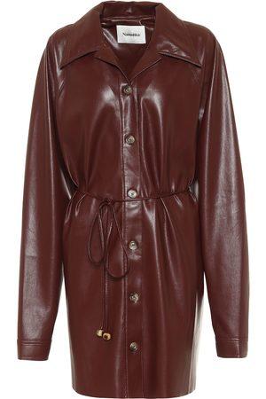 Nanushka Kvinder Casual kjoler - Joy faux leather shirt dress