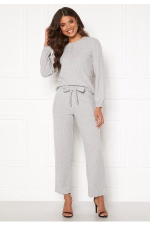 Happy Holly Elly rib pants Light grey melange 52/54