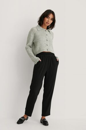 NA-KD Kvinder Bukser - Elastic Waist Pinstriped Pants