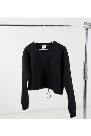 Chelsea Peers Cropped lounge-sweatshirt i kraftig, økologisk bomuld med løbesnor i - Kun hos ASOS