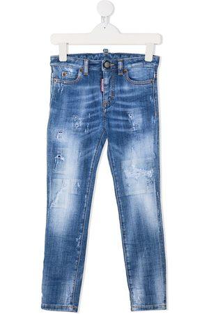 Dsquared2 Skinny - Skinny-jeans med konstraststing