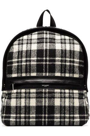 Saint Laurent Camp check-pattern backpack