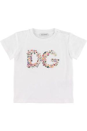 Dolce & Gabbana T-shirt - m. Blomsterbrodering