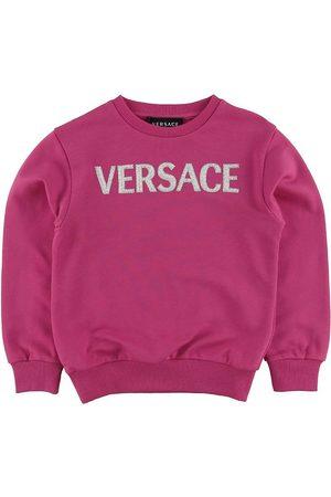 VERSACE Versace Sweatshirt - Fuchsia m. Logo