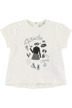 Emporio Armani T-shirt - Latte m. Print
