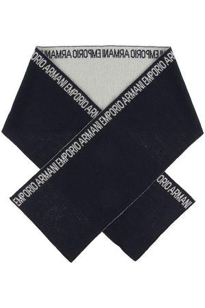 Emporio Armani Halstørklæde - 160x20 - Uld/Akryl - Navy