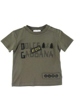 Dolce & Gabbana Kortærmede - T-shirt - Giardiniere Maschio - Armygrøn m. Prin