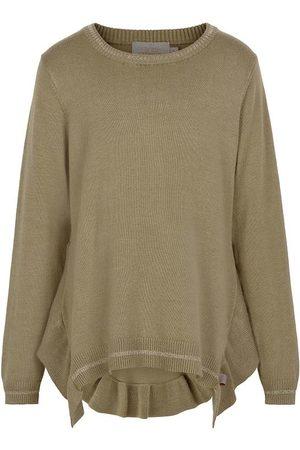 Creamie Bluse - Lurex Stripe - Covert Green