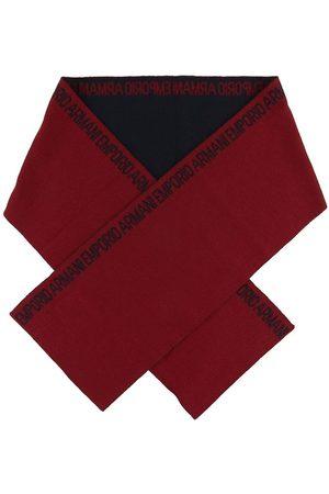 Emporio Armani Tørklæder - Halstørklæde - 160x20 - Uld/Akryl - Mørk