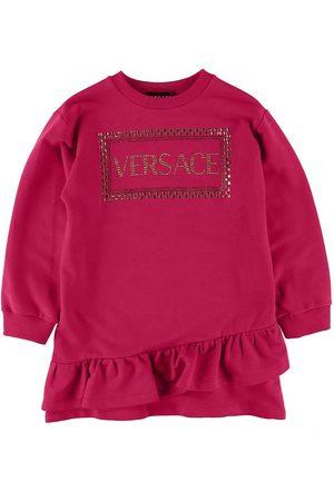 VERSACE Kjoler - Versace Sweatkjole - Fuchsia m. Nitter