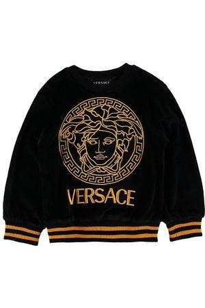 VERSACE Sweatshirts - Versace Bluse - Velour - / m. Logo