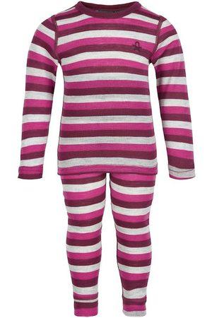 Color Kids Undertøjssæt - Undertøjssæt - Beet Red m. Striber