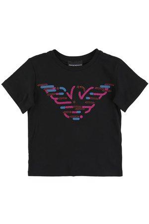 Emporio Armani Kortærmede - T-shirt - m. Pailletter