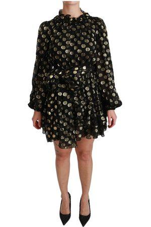 Dolce & Gabbana Lurex Polka Dots Flared Dress
